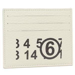 【返品OK】エムエムシックス メゾンマルジェラ カードケース ホワイト レディース MM6 Maison Margiela S54UI0129 PR931 H6196 axes