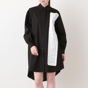エムエムシックス メゾンマルジェラ ワンピース シャツ アーカイブ プリント Sサイズ  ブラック MM6 Maison Margiela S62CT0120 S47294 900 axes