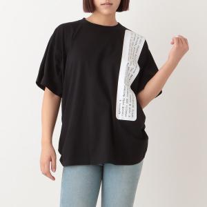 【返品OK】エムエムシックス メゾンマルジェラ Tシャツ ベーシック オーバーサイズ ブラック レディース MM6 Maison Margiela S62GD0085 S23588 900 axes