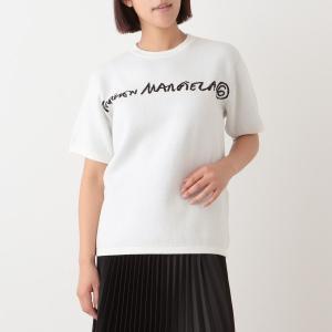 エムエムシックス メゾンマルジェラ Tシャツ ホワイト ブラック レディース MM6 Maison Margiela S62HA0043 S17719 102J axes