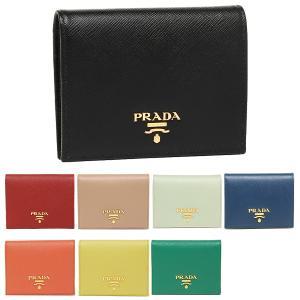 プラダ 二つ折り財布 サフィアーノ ミニ財布 レディース PRADA 1MV204 QWA|axes