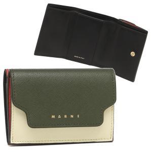 マルニ 三つ折り財布 トリフォールドウォレット ミニ財布 グリーン レディース MARNI PFMOW02U23 LV520 Z412N axes
