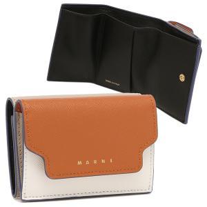 【返品OK】マルニ 三つ折り財布 トランク トリフォールドウォレット ミニ財布 オレンジ マルチ レディース MARNI PFMOW02U23 LV520 Z436B axes