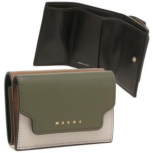 【返品OK】マルニ 三つ折り財布 トランク トリフォールドウォレット ミニ財布 グリーン マルチ レディース MARNI PFMOW02U23 LV589 Z473N axes