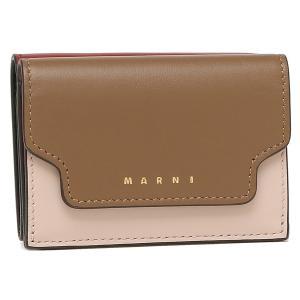【返品OK】マルニ 三つ折り財布 トランク トリフォールドウォレット ミニ財布 ブラウン マルチ レディース MARNI PFMOW02U23 LV589 Z474N axes