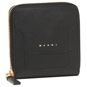 【返品OK】マルニ 二つ折り財布 ジップアラウンドウォレット ブラック レディース MARNI PFMOQ09U07 LV520 Z360N axes