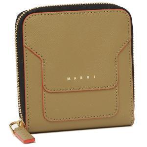 【返品OK】マルニ 二つ折り財布 ジップアラウンドウォレット ベージュ レディース MARNI PFMOQ09U07 LV520 Z418R axes