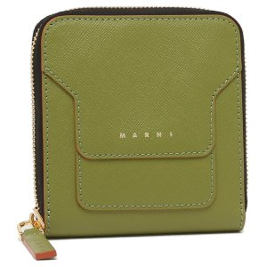 【返品OK】マルニ 二つ折り財布 トランク コンパクト財布 グリーン レディース MARNI PFMOQ09U07 LV520 Z435M axes