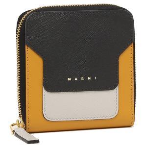 【返品OK】マルニ 二つ折り財布 ジップアラウンドウォレット ブラック レディース MARNI PFMOQ09U12 LV520 Z414N axes