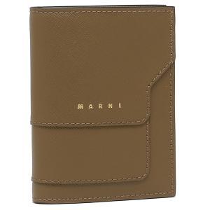 【返品OK】マルニ 二つ折り財布 トランク ブラウン レディース MARNI PFMOQ14U07 LV520 Z472N axes