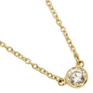 【返品OK】ティファニー ネックレス アクセサリー TIFFANY&Co. 10769345 18K ダイヤモンドバイザヤード 0.14ct 16in 18YG ゴールド|axes