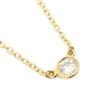【返品OK】 ティファニー ネックレス アクセサリー TIFFANY&Co. 24834239 18K ダイヤモンド バイザヤード 0.12ct 16IN 18YG イエローゴールド axes
