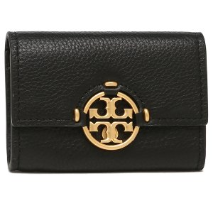 トリーバーチ TORY BURCH 二つ折り財布 ミラー ミニ財布 ブラック レディース 79394 001|axes