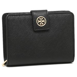 トリーバーチ 二つ折り財布 アウトレット TORY BURCH 33646 001 ブラック|axes