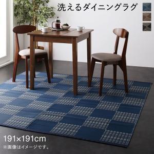 洗える モダンデザインダイニングラグ Aramida アラミダ 191×191cm axisnet
