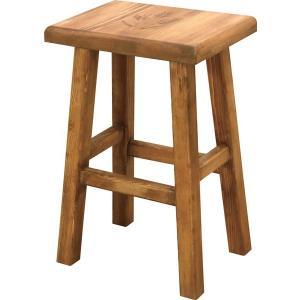スツール 角 1P 1人掛け チェア チェアー 椅子 イス 天然木 アンティーク風 カントリー風|axisnet