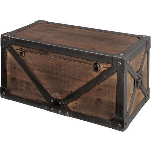 トランク M トランク スツール リビングボード サイドボード 収納ラック 整理ラック 収納 収納庫 収納ボックス 天然木 木製 古木風 アンティーク風|axisnet