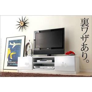 背面 収納 TVボード ROBIN ロビン 幅120cm ホワイト テレビ台 TV台 テレビボード テレビラック TVラック AVラック AVボード AV収納 キャスター付き|axisnet