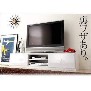 背面 収納 TVボード ROBIN ロビン 幅150cm ホワイト テレビ台 TV台 テレビボード テレビラック TVラック AVラック AVボード AV収納 キャスター付き|axisnet