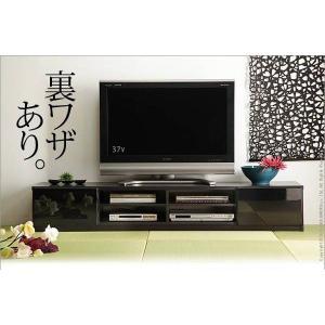 背面 収納 TVボード ROBIN ロビン 幅180cm ブラック テレビ台 TV台 テレビボード テレビラック TVラック AVラック AVボード AV収納 キャスター付き|axisnet
