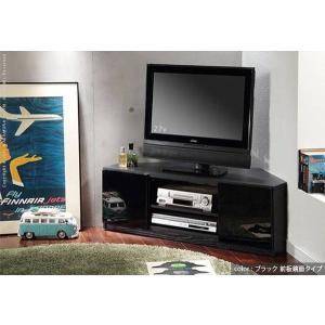 背面 収納 TVボード ROBIN CORNER ロビン コーナー ブラック テレビ台 TV台 テレビボード テレビラック TVラック AVラック AVボード AV収納 キャスター付き|axisnet