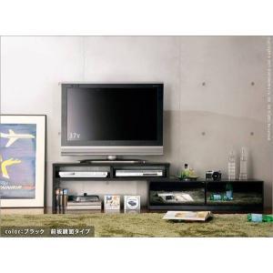 背面 収納 TVボード ROBIN SLIDE ロビン スライド ブラック テレビ台 TV台 テレビボード テレビラック TVラック AVラック AVボード AV収納 キャスター付き|axisnet