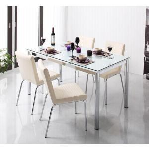 ガラス デザイン ダイニング De modera ディ・モデラ 5点セット テーブル 130 + チェア 4脚 ホワイト ダイニング5点セット 4人用ダイニングセット 4人掛け|axisnet