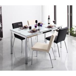 ガラス デザイン ダイニング De modera ディ・モデラ 5点セット テーブル 150 + チェア 4脚 ミックス ダイニング5点セット 4人用ダイニングセット 4人掛け|axisnet