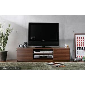 背面 収納 TVボード 幅120cm ウォールナット テレビ台 TV台 テレビボード テレビラック TVラック AVラック AVボード AV収納 キャスター付き|axisnet