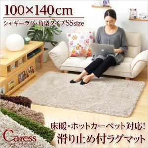 (100×140cm)マイクロファイバーシャギーラグマット Caress-カレス-(SSサイズ)|axisnet