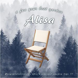 人気の折りたたみガーデンチェア(2脚セット)アカシア材を使用 | Alisa-アリーザ-|axisnet