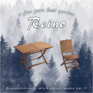 折りたたみガーデンテーブル・チェア(5点セット)人気のアカシア材、パラソル使用可能 | reino-レイノ-|axisnet