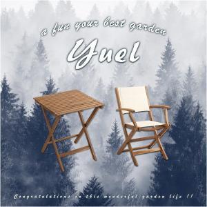 折りたたみガーデンテーブル・チェア肘付き(3点セット)人気素材のアカシア材を使用 | Yuel-ユエル-|axisnet