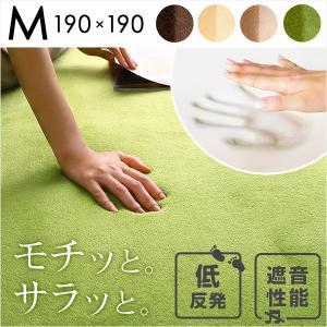 高密度マイクロファイバー・低反発ラグマットMサイズ(190×190cm)ホットカーペット、床暖房対応|リウル|axisnet