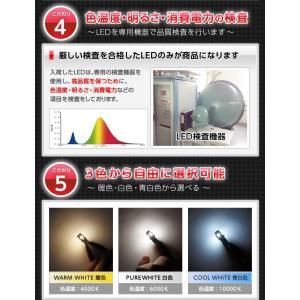 3色選択可!T10/T16ウェッジ5連高輝度3チップLED 2個1セットポジションランプ/ナンバー灯/バックランプ(メール便発送)(S)|axisparts|02