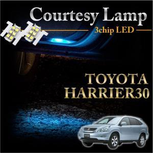 トヨタ  ハリアー30系専用LEDカーテシランプ2個1セット5色選択可!高輝度3チップLEDメール便発送(※メール便為 時間指定+B405不可!) axisparts