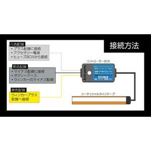 (新商品)シーケンシャルウィンカー LEDテープ  流れるウィンカー/デイライト 薄さわずか3.2mm 途中カットも可能  60cm 2本1セット(S) axisparts 11
