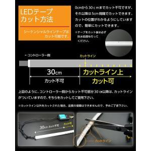 (新商品)シーケンシャルウィンカー LEDテープ  流れるウィンカー/デイライト 薄さわずか3.2mm 途中カットも可能  60cm 2本1セット(S) axisparts 12