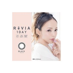 送料無料 ReVIA 1day 10枚入り CIRCLE レヴィア 安室奈美恵 1day 度なし 度あり カラコン サークルレンズ 定