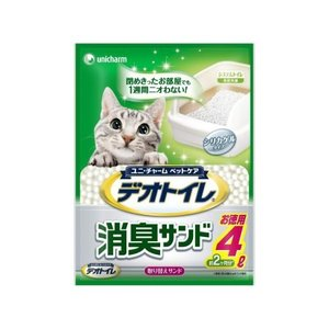 1週間消臭・抗菌デオトイレ 取りかえ専用消臭サンド 4L|ayahadio