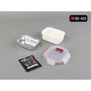 バロクック 加熱式弁当箱 角形 Sサイズ 320ml BC-002|ayahadio