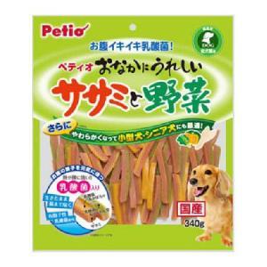 ペティオ おなかにうれしいササミと野菜 340g|ayahadio