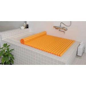 Agカラーイージーウェーブ 風呂ふた M12 (70×121cm) オレンジ(風呂蓋 ふた 蓋 風呂フタ)|ayahadio