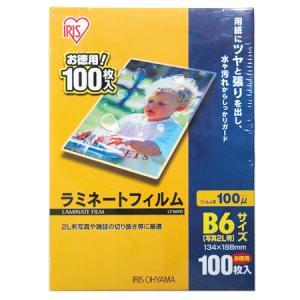 ラミネートフィルム B6サイズ 厚み100ミクロン LZ-B6100|ayahadio