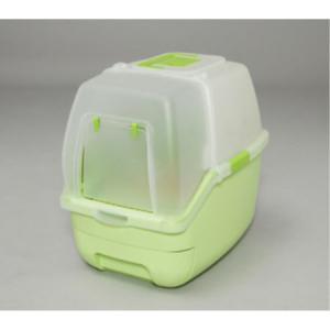 楽ちん猫トイレ フード付きセット RCT-530F グリーン|ayahadio