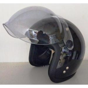 シールド付きジェットヘルメット BK NT-072|ayahadio