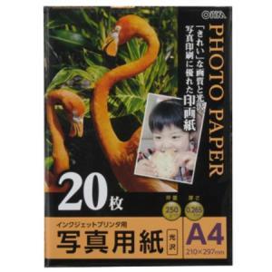 写真用紙 光沢 A4版 20枚入り PA-PRC-A4/20