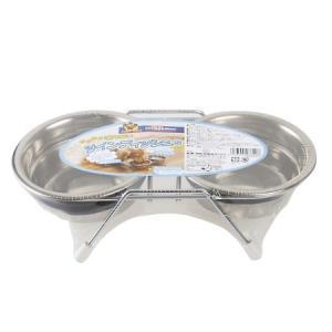 【ドギーマン 食器台 食器 ステンレス 超小型・小型犬・猫】 【仕様】 ●原産国:インド ●製品サイ...