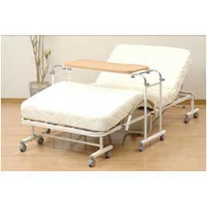 【山善 ベッドテーブル BTT-8040(NA)】  【仕様】 ●サイズ:幅110×50×68cm ...