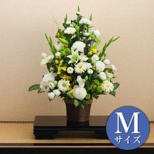 季節のお花 おまかせ お供えフラワーアレンジメント 黄色系 Mサイズ ayahadio